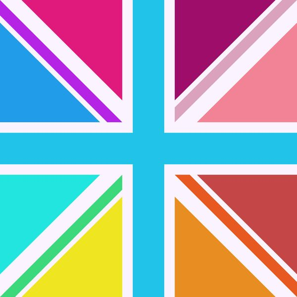 Square Based Union Jack/Flag Design Multicoloured Art Print by Natalie Paskell | Society6