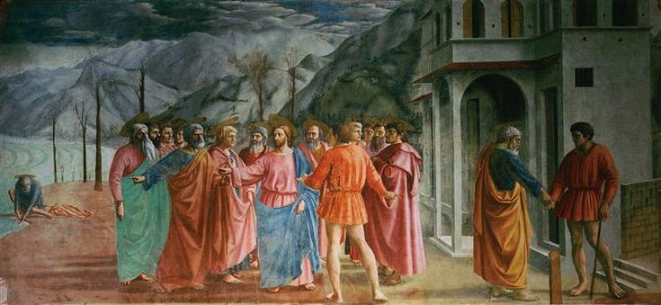 The Tribute Money, 1425 - Masaccio. Titulo original: Il tributo della moneta