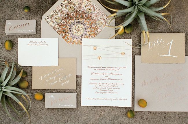 Moroccan inspired invitation
