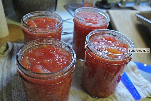 Canning diced tomatoes | Garden And Self Sustaining | Pinterest