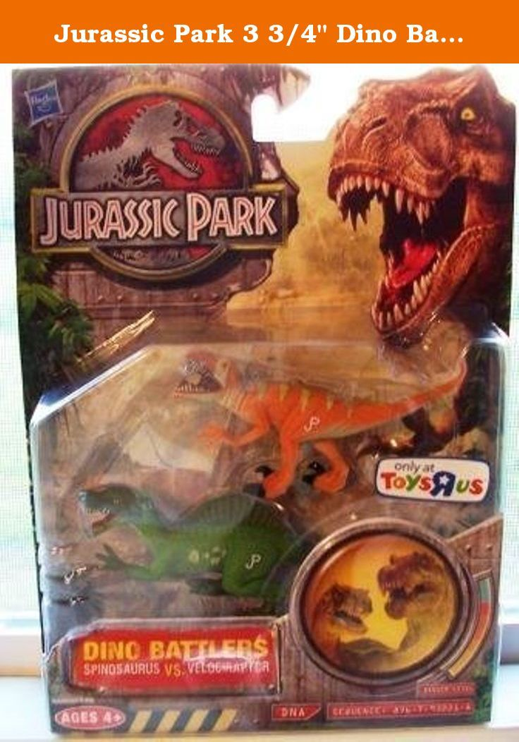 "Jurassic Park 3 3/4"" Dino Battlers Velociraptor vs Spinosaurus Exclusive. Great Item Dino."