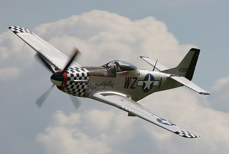 WWII P-51 Mustang Aircraft.