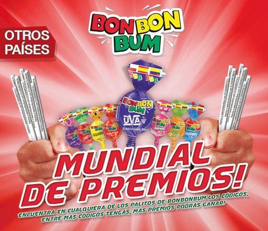 """Aprovecha este concurso mundial """"Promoción mundial con Bon Bon Bum"""" y gana camisetas, balones, mochilas, Ps4 y televisores 32 pulgadas. Para participar debes ingresar a la página www.BonBonBum.com , escoger tu país y registrarte (solo la primera vez). Una vez registrado tendrás tu sesión habilitada en la que podrás ingresar los códigos que aparecen en los palitos de tus caramelos Bon Bon Bum. Se sortearán cada 15 días, poleras de la selección, balones, chaquetas deportivas y mochilas . El…"""