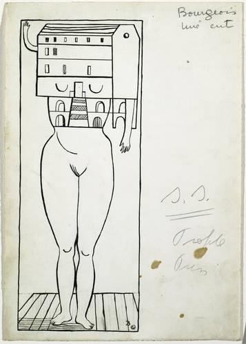 Louise Bourgeois-Femme Maison-1947.