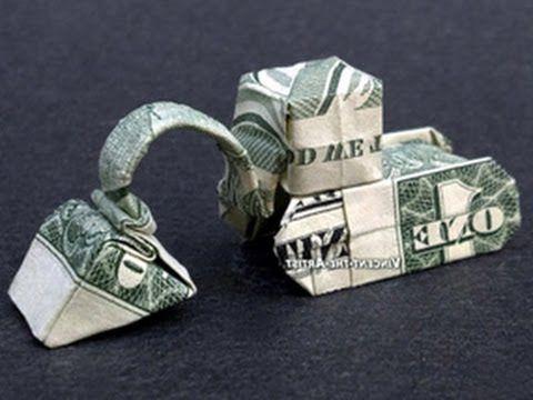 Money Origami Excavator – Dollar Bill Art