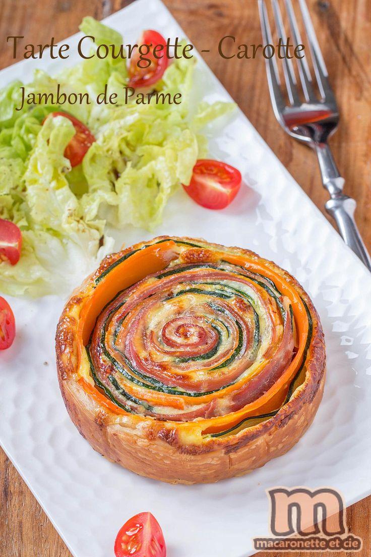 Tartelettes courgette-carotte et jambon de Parme