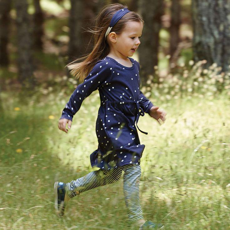 Organic Kid Nature Freya Dress / Navy Snowball Print / Nature Baby