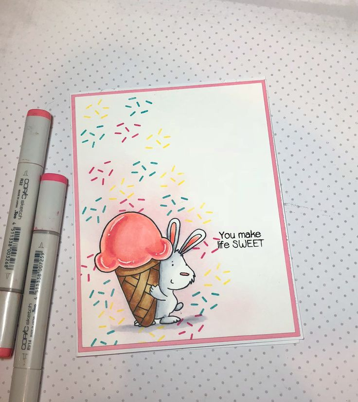 Inky Antics stamp set . This is day 7 of the Daily Marker 30 day coloring challenge