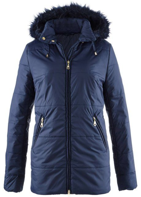 31e1ab1686f Элегантная теплая куртка с полоской меха на съемном капюшоне ...