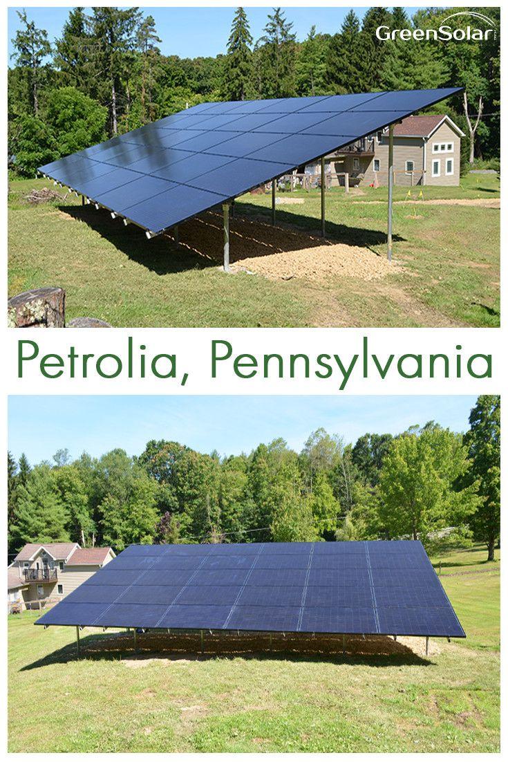 Green Solar Technologies Has Installed A New System For A Customer In Petrolia Pennsylvania Wit Solar Installation Residential Solar Panels Residential Solar