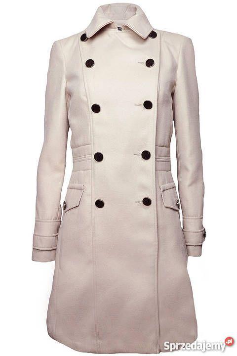 Dunnes Beżowy dwurzędowy płaszcz