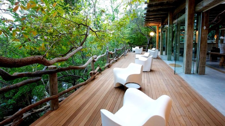 Wildlife viewing from your private deck at Karula.