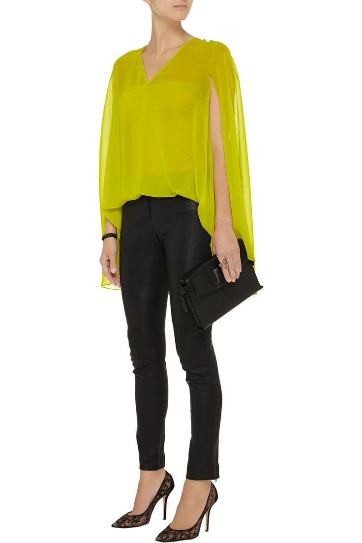 Cushnie et OchsCape-back georgette top