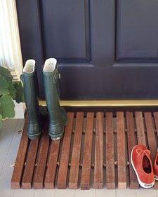 I love this door mat for outside the front door.