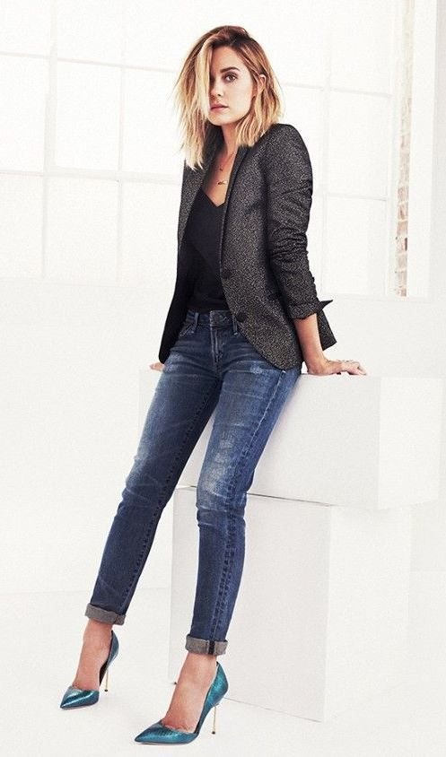30+ Lovely Winter Office Outfits With Jeans  51e2fcae589de
