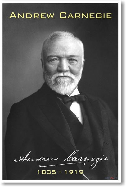 the childhood education and adult life of andrew carnegie Andrew carnegie (1835-1919) is a true example of a rags-to-riches story born into a family living in half of a room in a weaver's cottage in scotland, carnegie accumulated the inflation-adjusted equivalent of $309 billion—and gave all but $35 million of it away in his lifetime.