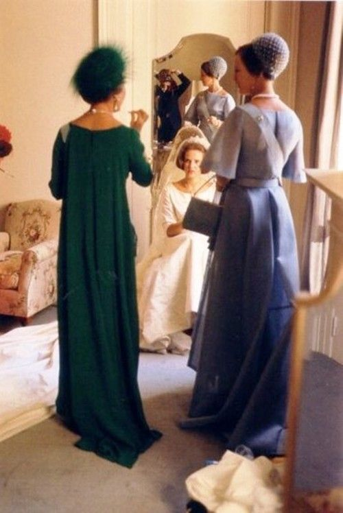 Queen Anne-Marie of Greece awaiting the wedding ceremony between her and King Constantine II of Greece-September, 1964