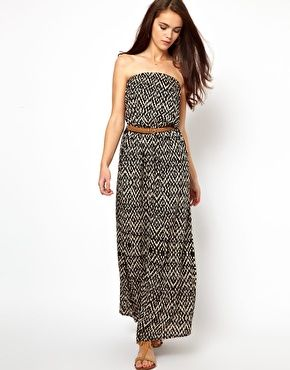 Primark Belted Print Maxi Dress