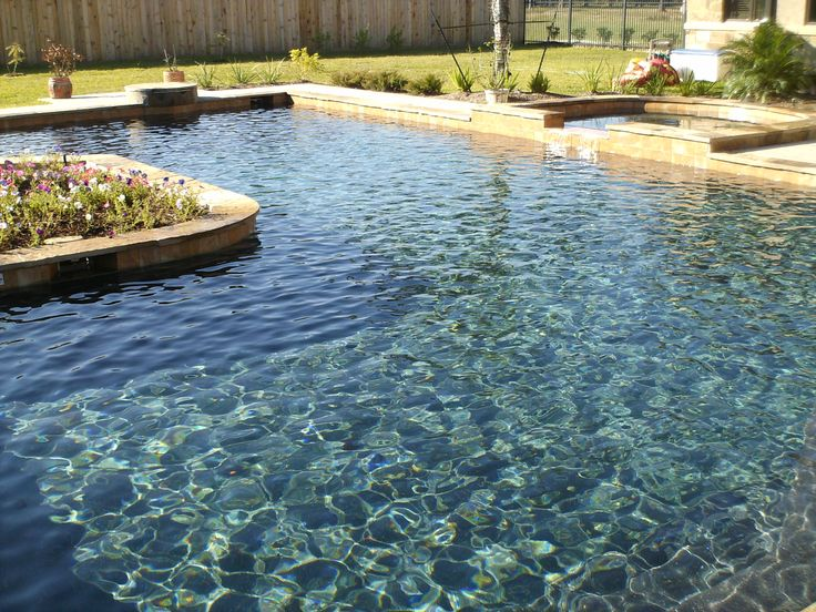 Pebbletech black bottom pool dream garden patio and for Garden pool facebook