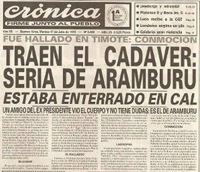 Diario Crónica (17 de Julio de 1970) - Historia Contada VER MAS
