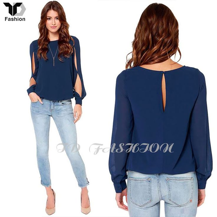 Aliexpress.com : Buy Fashion Special Sleeve Spile design Blouse blusas femininas kimono Sexy chiffion Women Tops ropa mujer camisas femininas Blue from Reliable top router suppliers on TD Fashion  | Alibaba Group