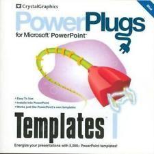 PowerPlugs Templates 1 Blue PC CD Powerpoint presentation backgrounds slides!