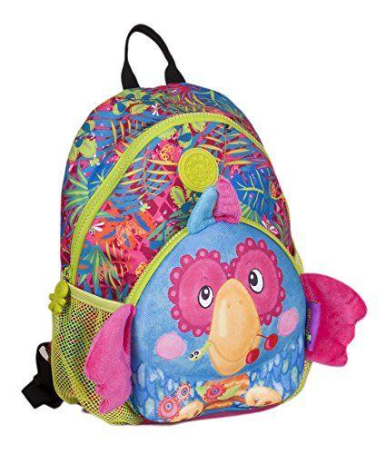 3a9c924ba64 okiedog wildpack junior 86006 Kinderrucksack mit Brustgurt PAPAGEI türkis.  idealer Rucksack für KiTa und Vorschule. mit Brustgurt. gepolster…