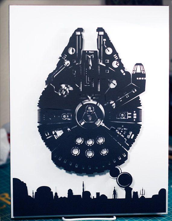 Star Wars Millennium Falcon Han Solo Mos Eisley / / von willpigg