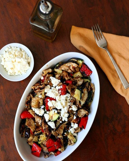 Low Carb Grilled Vegetable Salad Recipe | All Day I Dream About Food @Carolyn Ketchum