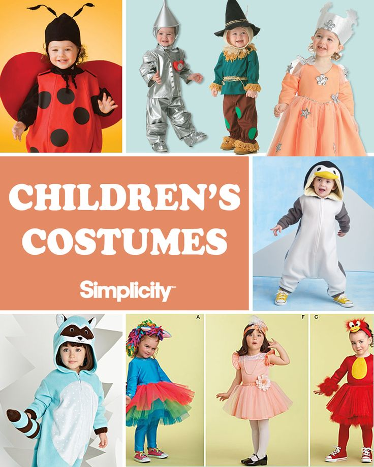 adorable sewing patterns featuring childrens costumes - Childrens Halloween Costume Patterns