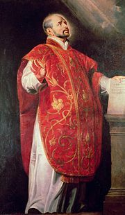 St Ignatius of Loyola (1491-1556) Founder of the Jesuits (Portrait by Peter Paul Rubens.)