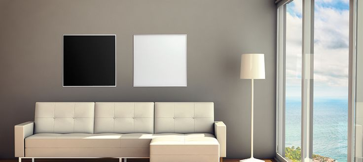 Welltherm Infrared Heaters with Black and White Glass surface. For the living room or anywhere you can think of. Modern heating without paying a fortune.