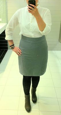 #ootd - work outfit - ankle boots and pencil skirt
