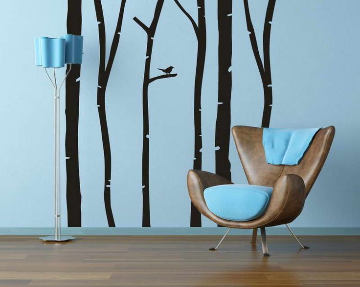 Picture Of Birch Trees With Single Bird   Wall Decal Set. Find This Pin And  More On Create Your Own ... Part 97