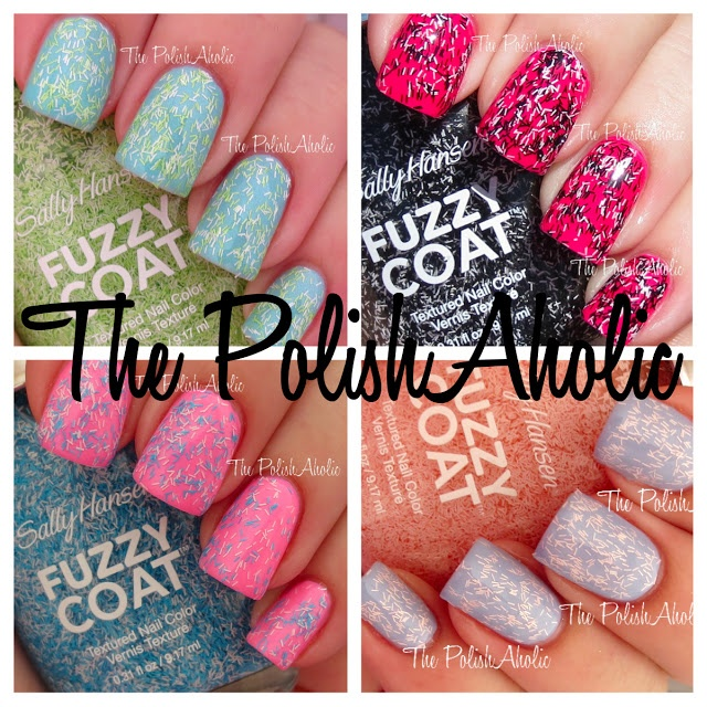 Sally Hansen Fuzzy Coat Swatches: A cheaper alternative to Nails Inc. Feathers!