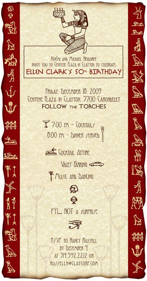 themed 50th themed party bday egyptian birthday egyptian themed