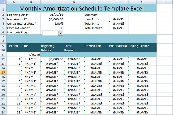 1000 images about excel project management templates for for Amortization formula excel template