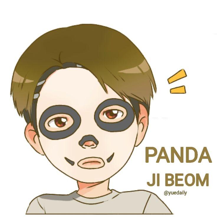 Panda jibeom golden child fanart