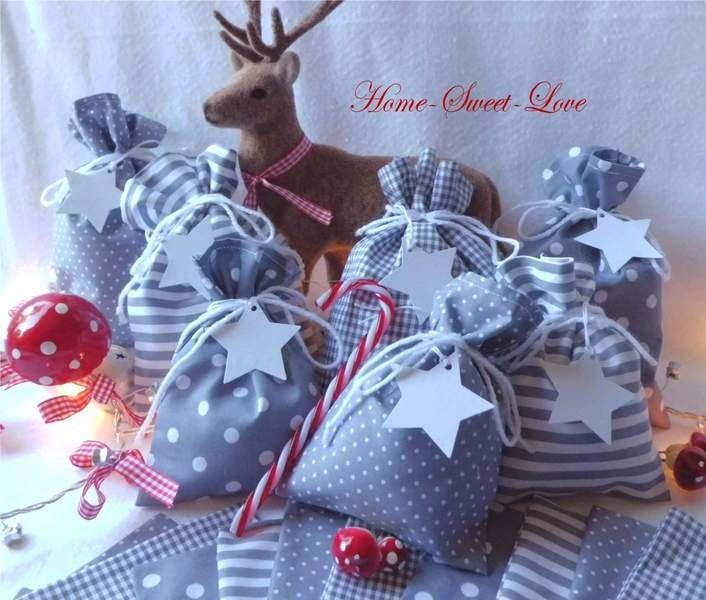Adventskalender - ♥ Adventskalender ~ Säckchen & Sterne - ein Designerstück von Home-sweet-love bei DaWanda