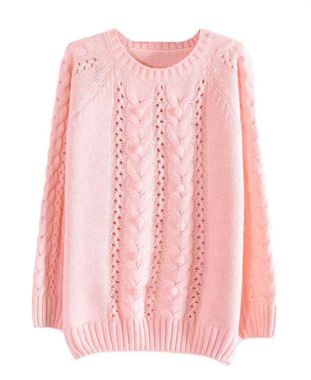 Candy Color Small Pompon Decorated Pullover