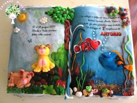 torta con Simba e Nemo