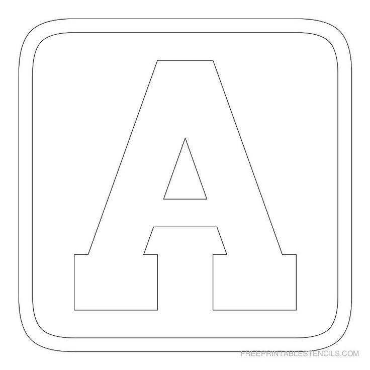 Free printable alphabet stencils printable block letter stencils free printable alphabet stencils printable block letter stencils free printable stencils com school pinterest free printable stencils printable spiritdancerdesigns Images