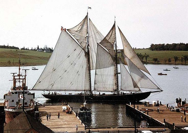 (This is the Bluenose II) The Bluenose was born in Lunenburg too! You might have seen it on a Canadian dime. :)