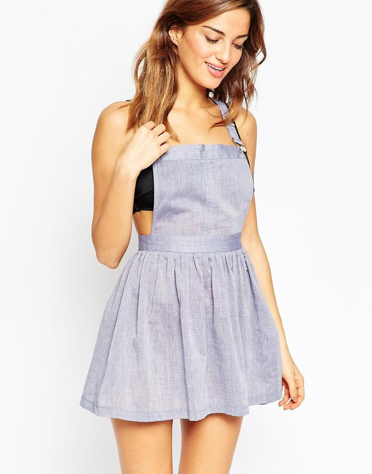 Image 1 of ASOS Chambray Overall Beach Dress
