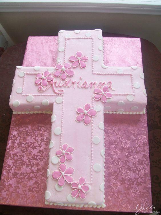 pink cross cake