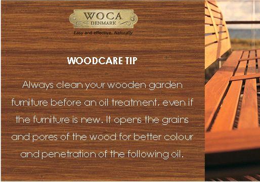 Woodcare tip - garden furniture