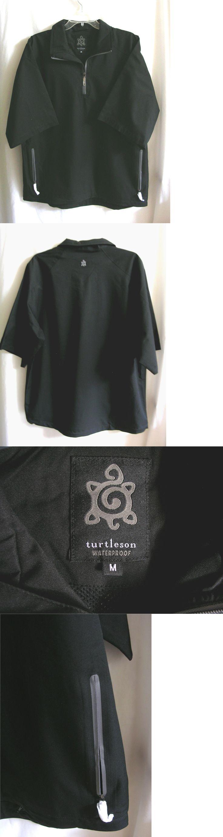 Coats and Jackets 181134: Turtleson Waterproof 1/2 Sleeve 1/4 Zip Rain Jacket Mens Medium Golf BUY IT NOW ONLY: $59.99
