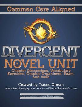 Divergent Novel Common Core Aligned Unit (Finally!)