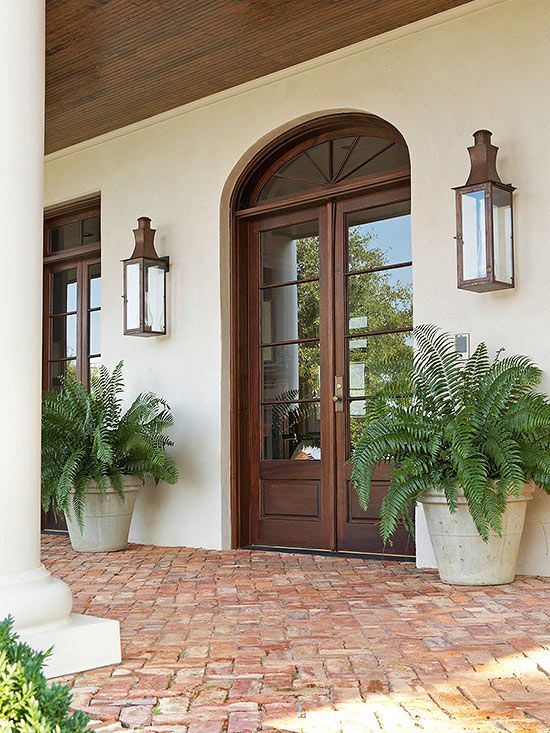 Coordinate door Hardware and exterior Lighting