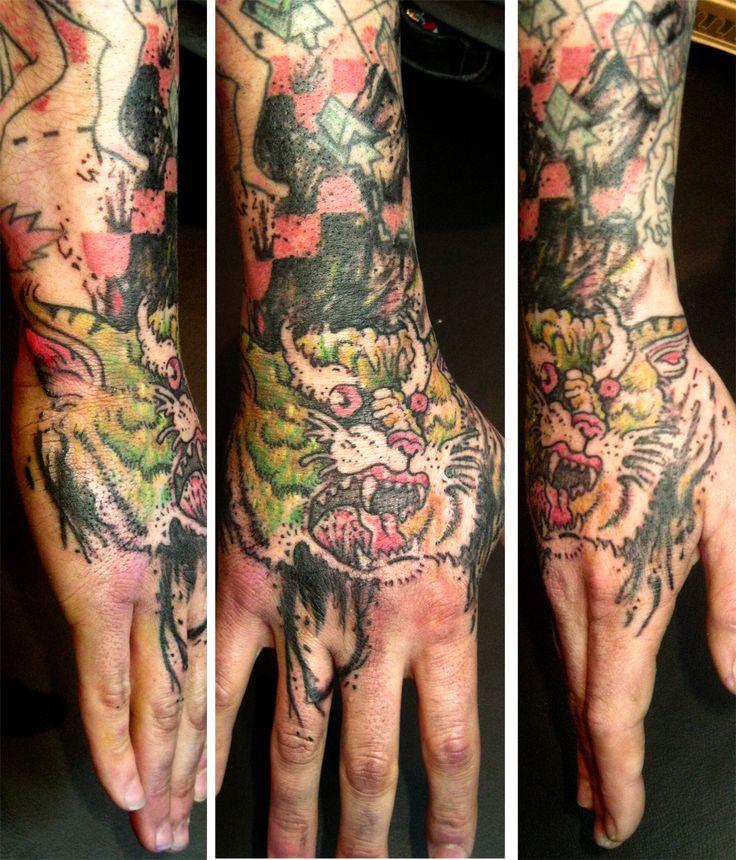 #pietducongo#tattoo#main#hand#tigre#tiger#scratch#raw